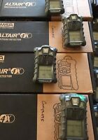 MSA altair 4X multigas Gas Monitor detector, O2,H2S,CO,LEL Charger/ calibrated