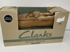 Clarks JHM1698 Wool / Authentic Leather Indoor + Outdoor Moccasins Slippers S 12