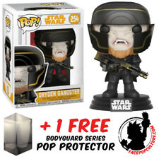 FUNKO POP STAR WARS SOLO DRYDEN GANGSTER EXCLUSIVE + FREE POP PROTECTOR