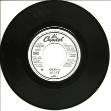 "Wings-Let 'Em In (PROMO)-45 RPM-7""-single-pop-vinyl-record-Rare"