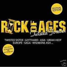 Rock of Ages-Twisted Forever CD Vixen Asia Europe saga Thin Lizzy Gottardo