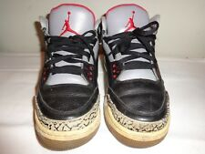 mens Air Jordan Retro 3 lll 2011 Black Cement shoes Size 9.5 136064 010