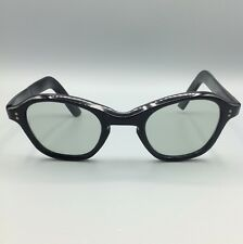 occhiale LOZZA celluloide vintage 50s celluloid black sunglasses made in Italy