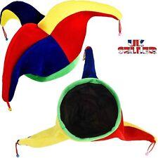 UK Funny Costume Jester Clown Hat for Mardi Gras Carnival Party Multicolor