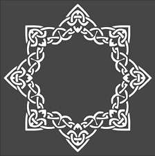 1- 8x8 Custom Stencil, (KD-30) Celtic Design, Free Shipping