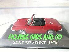 1/43  SEAT 850 SPORT 1970 ROUGE  IXO QUERIDOS COCHES ALTAYA ESPAGNE  FIAT