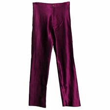 VINTAGE LE GAMBI LEGAMBI Spandex Disco Pants Shiny WINE RED Lycra Jeans