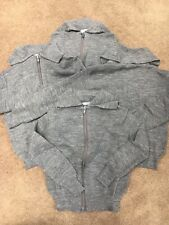 "4x Grey School Zipper Tops Great Uk Made 26"" Approx Size 4-5"