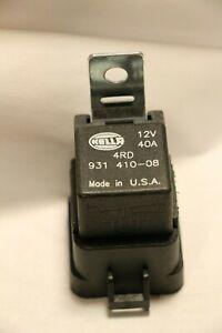 Genuine Original Hella 12V 40A Relay With Bracket 4RD 931 410-08 Made in U.S.A.