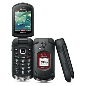 Kyocera DuraXV Plus E4520 - Black - (Verizon) Rugged 3G Flip Phone