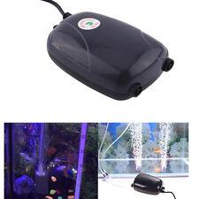 220/110/12V 3.5L/Min Double Outlet Aquarium Oxygen Pump Fish Tank Air Pump GW