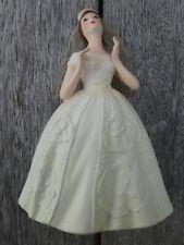 Vintage Enesco Imports Ceramic Bride Figure - Complete with Net Veil. Made Japan