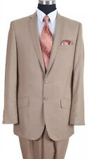 MILANO MODA TAN Suit 42R./36W New With Tags