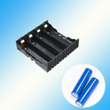 4X Plastic Battery Case Holder-Storage Box for 18650 Batteries 3.7V Black~*`.,