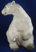 Superb Nymphenburg Porcelain Polar Bear Figure Figurine Porzellan Eisbär Figur