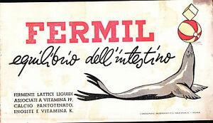 """CARTA ASSORBENTE PUBBLICITARIA MEDICINALE """" FERMIL """" - 11-145"""
