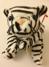 TY Retired Beanie Baby Babies BLIZZARD The White Tiger PVC Pellets 1996