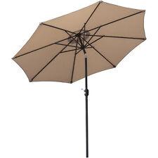 9 ft Patio Umbrella Outdoor Market Table Umbrella with Push Button Tilt Crank