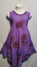 Women Clothing Sundress Summer Beach Sun Dress Purple Blue Orange Free Size
