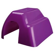 Trixie Plastic Small Guinea Pig Rat Cage Hutch Hide House 4 Colours 61342 Purple