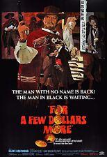 """"""" Pour A Few Dollars Plus """" Clint Eastwood Film Classique Affiche A1A2A3A4Sizes"""