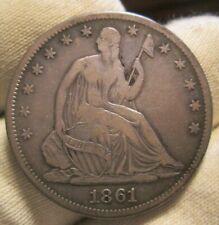 1861-s Seated Half Dollar Shattered Reverse Die