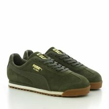 Puma Roma Chaleur Naturelle Baskets Homme Taille UK 11 Olive Night Whisper White