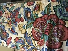 FABULOUS CUSTOM SCHUMACHER VALANCE CURTAIN,FLORAL PAISLEY BLUE,ROSE&TAN (5)AVAIL