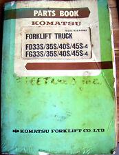 KOMATSU Parts Book FORKLIFT TRUCK FD33S 35S 40S 45S-4 FG33S 35S 40S 45S-4   #243