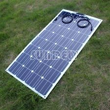 Boat Solar Panel Kit Solar Sunpower Cell Semi-flexible Mono 100W LightWeight New
