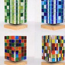 100g Tiles Mosaic Stained Glass Pieces Colored 1x1  Art Craft Bulk Antique Decor
