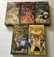 Lot Of 5 Magic Knight Rayearth 2 Anime VHS Tapes Wake Rise Sleep English Dub