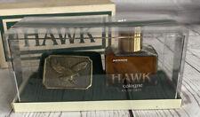 New listing Vintage MENNEN HAWK Cologne & Hawk Belt Buckle Gift Set for Men 4 oz NOS