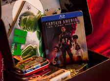 Captain America Zavvi Exclusive Limited Edition Steelbook + Marvel Zavii Zbox