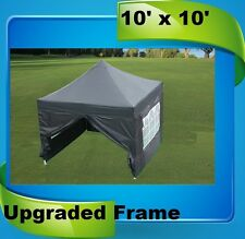10'x10' Pop Up Canopy Party Tent EZ - Black - F Model Upgraded Frame
