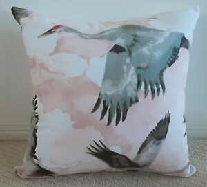 Pink, Sage and Cream Flying Geese Cushion Cover - 45cm x 45cm