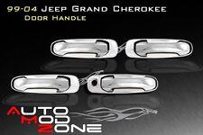 99-04 Jeep Grand Cherokee Chrome 4 Door Handle Cover w/o PSG Keyhole
