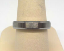 TRITON MEN'S 4.0MM COMFORT FIT TUNGSTEN GREY WEDDING BAND RING