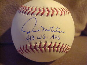 Paul Molitor AUTOGRAPHED STEINER OFFICIAL MLB BASEBALL SIGNED 418 WS AVG