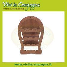 Cantinetta portabottiglie in legno 13 posti a forma di botte