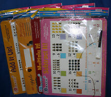 4Pc Educational Dry Erase Board Learning Math And English Student