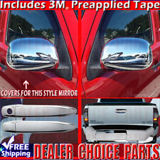 2009-2011 Toyota Tacoma 2-DR Chrome Door Handle W/O PSK+ Mirror +Tailgate Covers