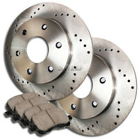 AutoShack CBO41206436AT4R Front Brake Rotors and Ceramic Pads