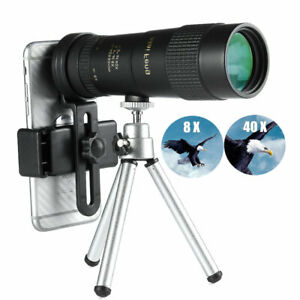 8-40X40 Zoom Monocular Professional Telescope Portable Cell Phone Lens Camera