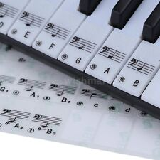 Transparent 49 61 88 Key Electronic Keyboard Piano Stave Note Stickers