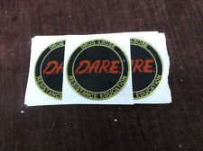 "DARE insert trophy parts full color 2"" diameter lot of 7"