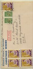 Burma  nice franking cover to US          KL0816