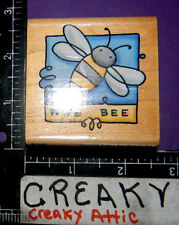 WEE BEE BUMBLE RUBBER STAMP STAMPENDOUS SWS005