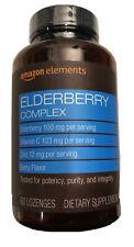 Amazon Elements Elderberry Complex 60 Berry Flavored Lozenges Exp 4/22