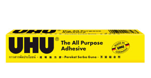 UHU ALL PURPOSE CLEAR ADHESIVE STRONG SUPER GLUE FABRIC WOOD GLASS METAL PLASTIC